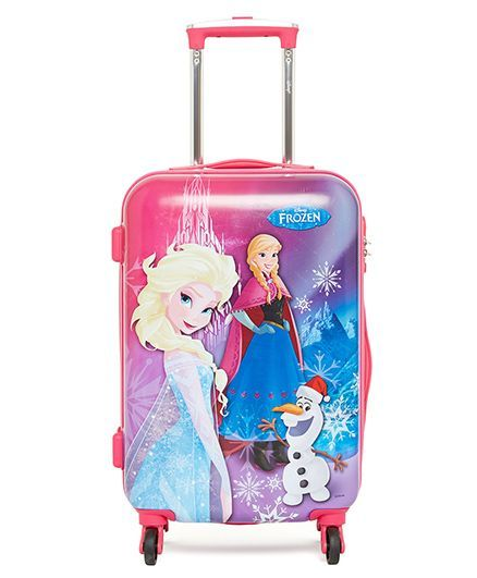 Disney Gamme Frozen Luggage Trolley Bag Pink - 20 Inches
