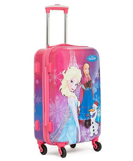 Disney Gamme Frozen Luggage Trolley Bag Pink 20 Inches