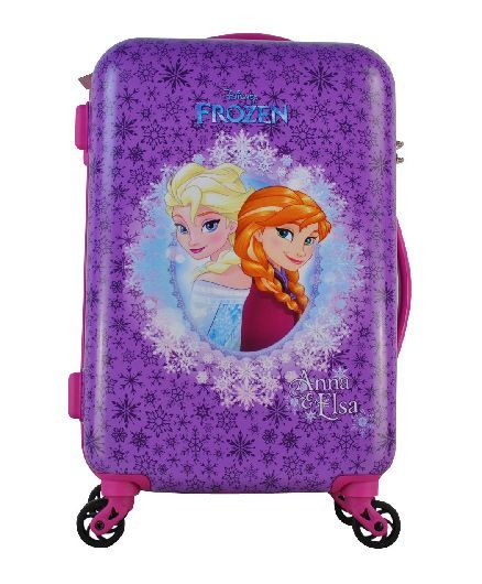 Disney Gamme Frozen Anna And Elsa Luggage Trolley Bag Purple - 20 Inches