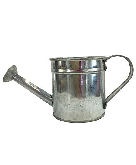 EZ Life Tin Pail Watering Buckets For Serving Gardening Decoration Pack Of 2 - Silver