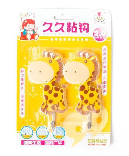 EZ Life 2Pc Wall Hook Giraffee Set - Multicolor