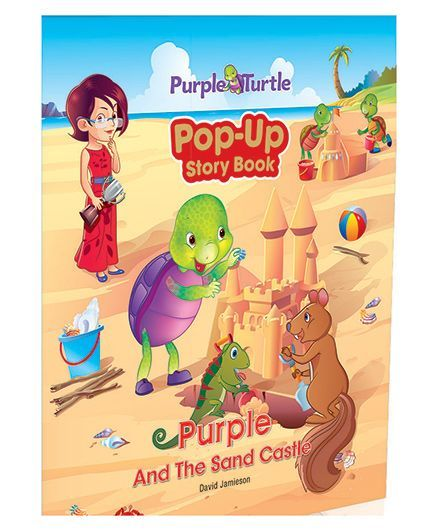 purple and the sand castle pop up story book english online in india