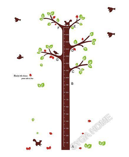 Syga Tall Tree Growth Chart Brown Green