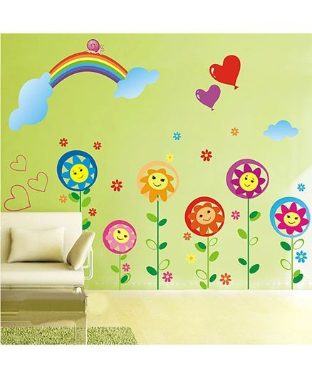 Syga Rainbow Decals Design Wall Stickers - Multicolour
