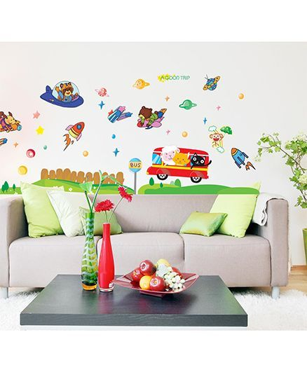 Syga Cartoons A Good Trip Decals Design Wall Stickers - Multicolour
