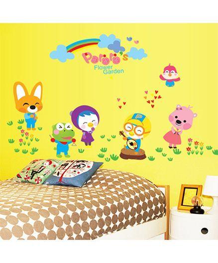 Syga Cartoons Wall Sticker - Multicolor