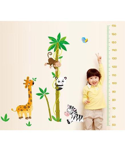 Syga Height Chart Wall Sticker - Multicolor