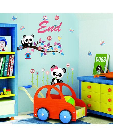 Syga Panda Wall Sticker - Multicolor
