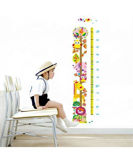 Syga Growth Chart Wall Sticker Multicolor Online In India Buy At Best