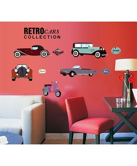 Syga Car Wall Sticker - Multicolor