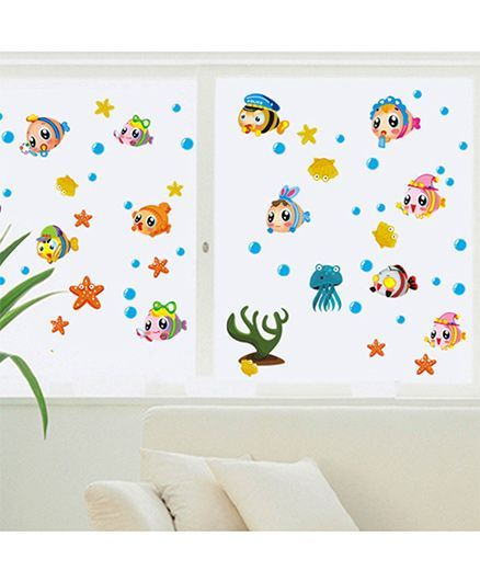 Syga Cartoon Wall Sticker - Multicolor