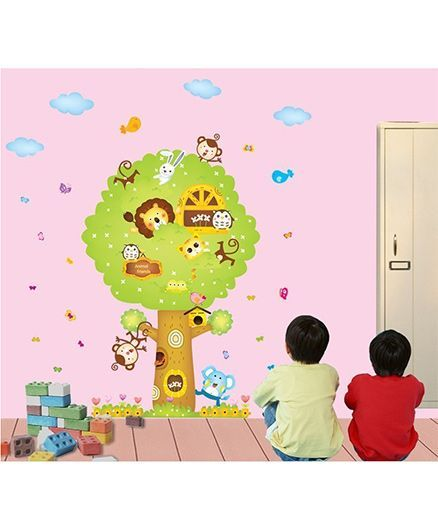 Syga Tree Wall Sticker - Multicolor
