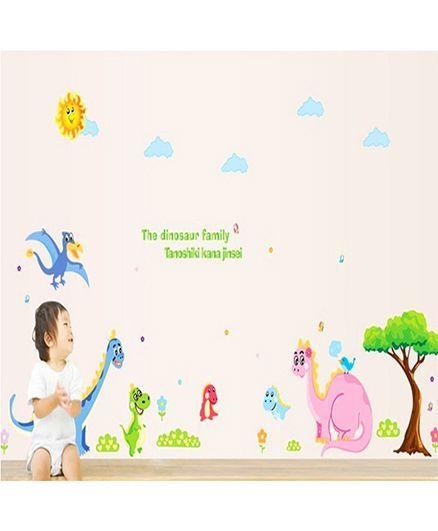 Syga Dinosaur Wall Sticker - Multicolor