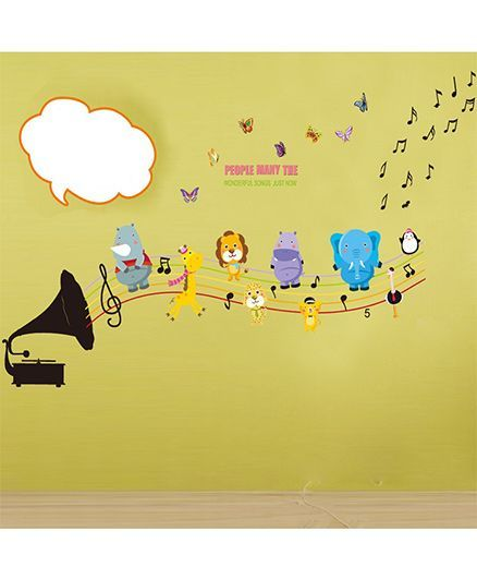 Syga Music Operator Wall Sticker - Multicolor