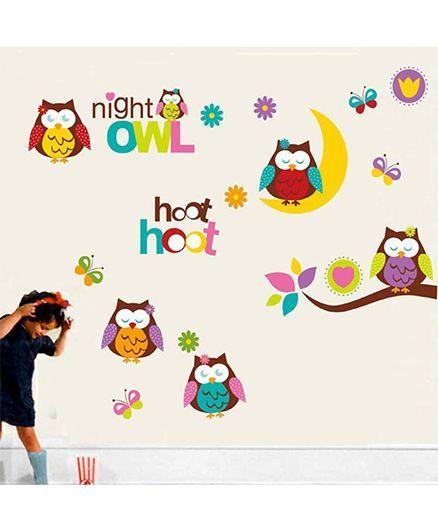 Syga Owl Wall Sticker - Multicolor