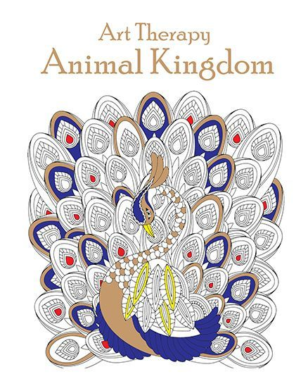 Art Therapy Animal Coloring Book