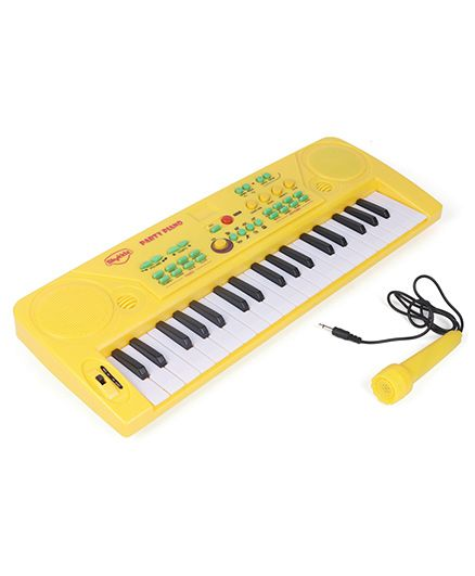 Skykidz My Party Piano With Microphone - Yellow