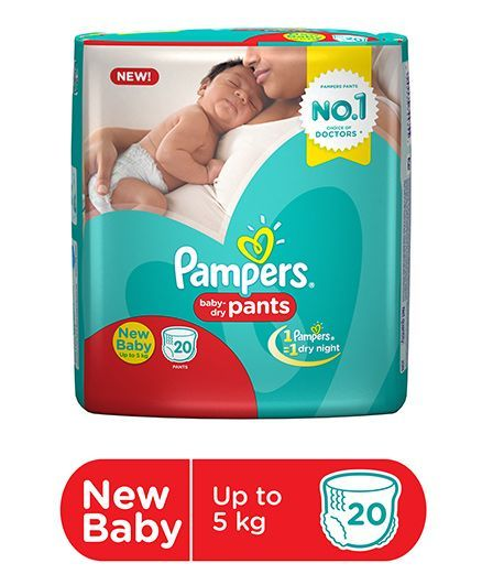 Pampers Pants Extra Diapers for New Born Diapers (20 Pieces)