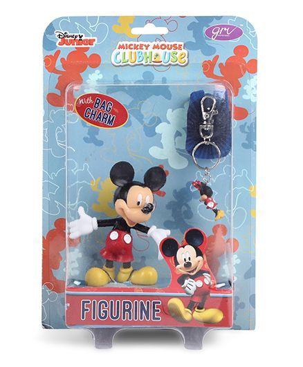 Disney Mickey Mouse Figurine With Bag Charm - Height 10 cm