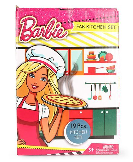 Barbie Fab Kitchen Set 19 Pieces Online India Buy Pretend Play Toys