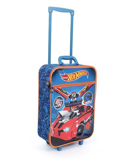 Mattel Hotwheels Luggage Bag - Blue