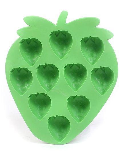 Strawberry Shaped Ice Cube Tray - Green