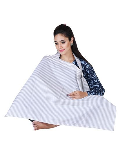 Lulamom Nursing Cover with Pocket - White