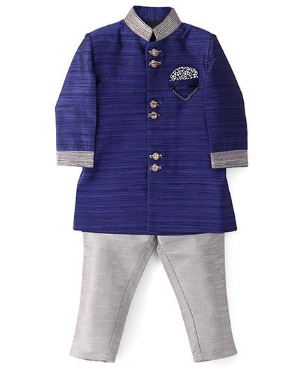 38c217a42fd2 Buy Robo Fry Full Sleeves Jacket And Pants Blue Grey for Boys (4-5 ...