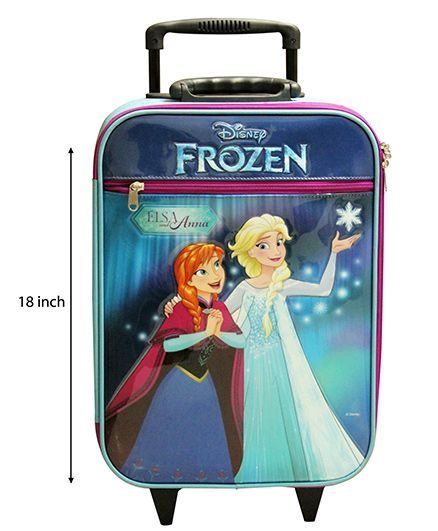 Disney Gamme Frozen Soft Trolley Bag Blue - 18 Inch