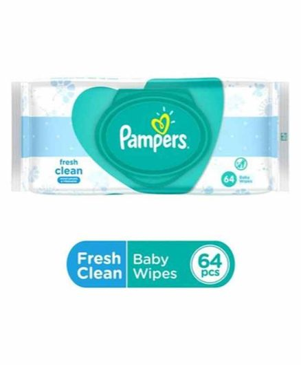 Pampers Fresh Clean Baby Wipe, 64 Pieces