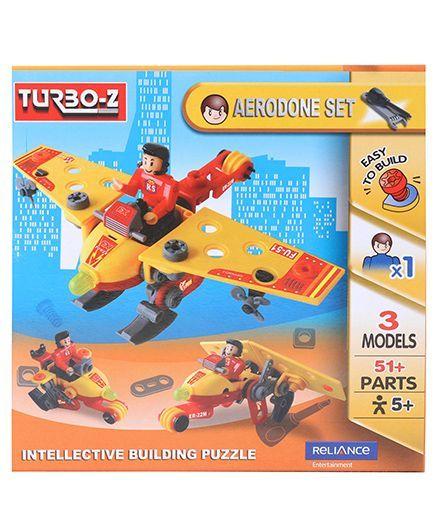 Turboz Build And Play Aerodone Set Multicolour - 51 Parts