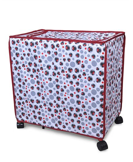Disney Laundry Bag With Wheels - White & Red