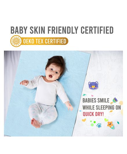 Quick Dry Bed Protector Small - Sky Blue