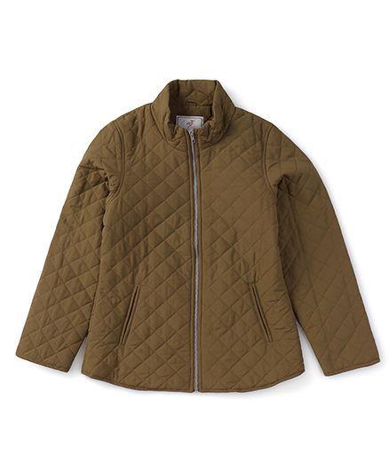 Trufit Maternity Wear Full Sleeves Jacket - Khaki Brown