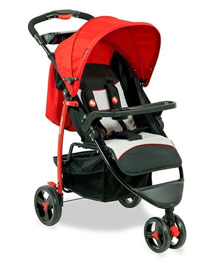 Fisher Price Rover Stroller Cum Pram Red Back - FPST02R