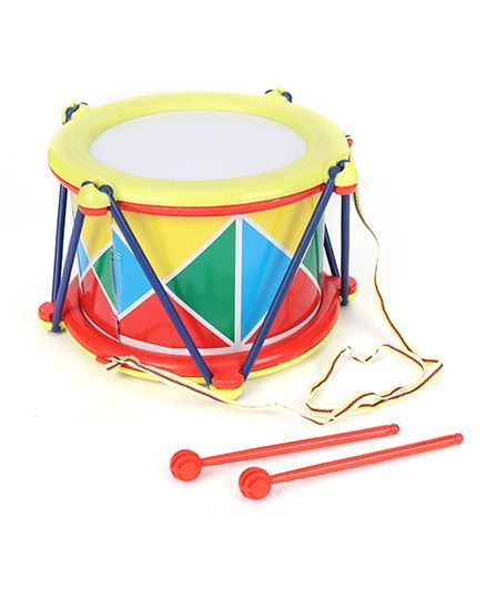 Lovely Musical Drum Big - Yellow And Red