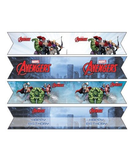 Avengers Drink Straws Pack of 10 - Multi Color