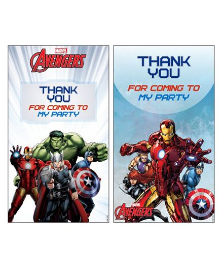 Avengers Thankyou Cards Pack Of 10 Multi Color Online In India Buy