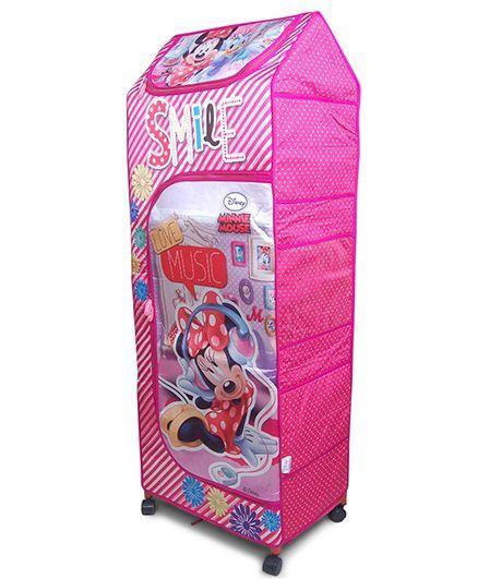 Disney Storage Almirah Wonder Cub Mini Smile - Pink