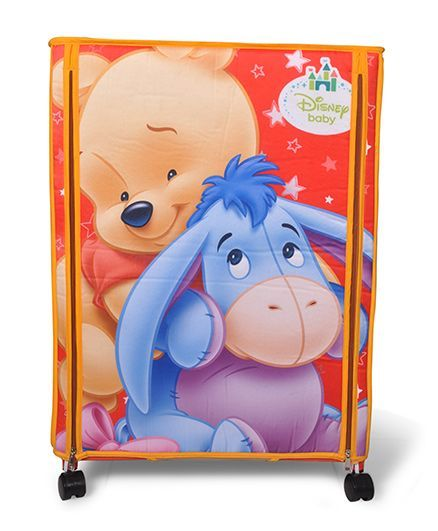 Disney Wonder Cub Storage Almirah Small Pooh Print - Orange