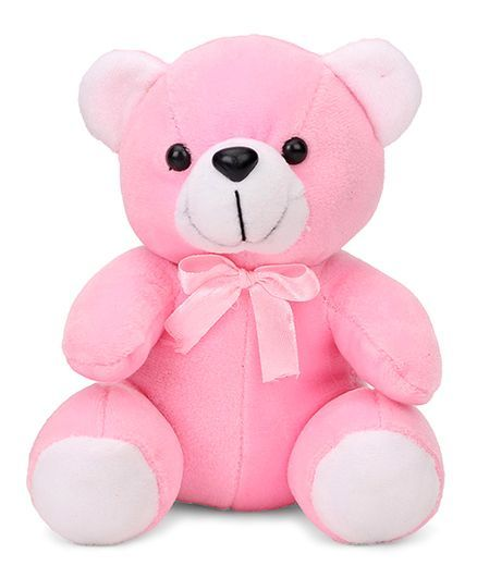 Playtoons Teddy Bear With Bow Pink