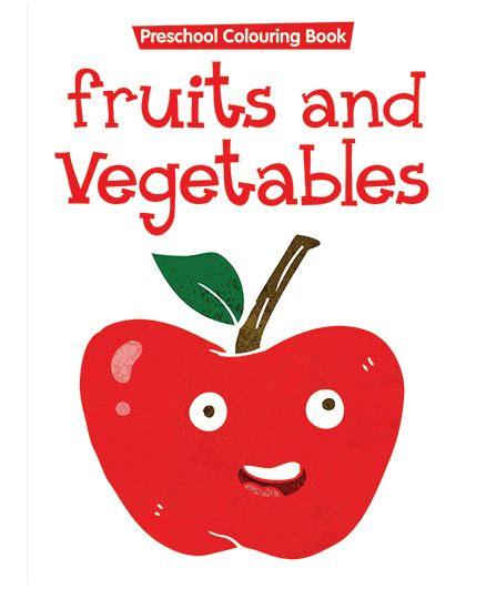 Preschool Coloring Book Fruits And Vegetables