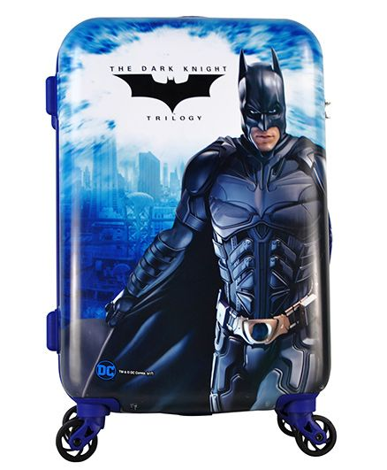 DC Comics Batman Triology Gamme Luggage Trolley Bag - 20 Inches