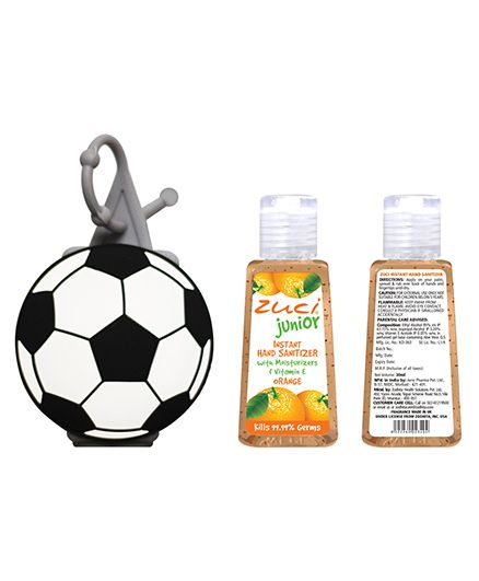 Zuci Junior Orange Hand Sanitizer With Football Bag Tag - 30 ml (Color May Vary)