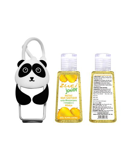 Zuci Junior Hand Sanitizer And Panda Bag Tag - 30 ml (Flavours May Vary)
