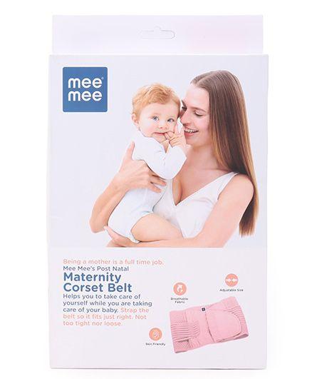 Mee Mee Post Natal Maternity Corset Belt Pink - Large