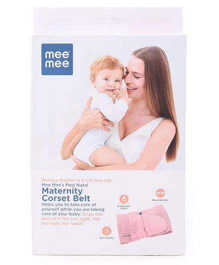 Mee Mee Post Natal Maternity Corset Belt Pink - Extra Large