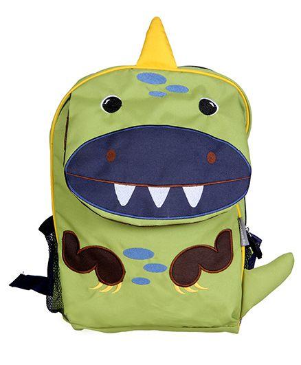 My Milestones Toddler Kids Backpack Dino Green Navy - 13 inch