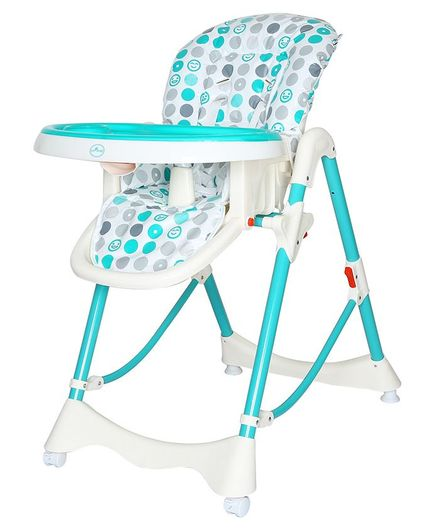 1st Step High Chair With 5 Point Safety Harness - Sea Green