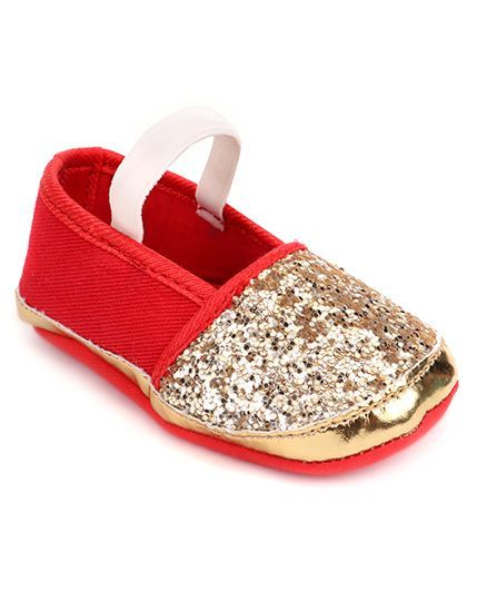Barbie Booties With Embellishments - Red Golden